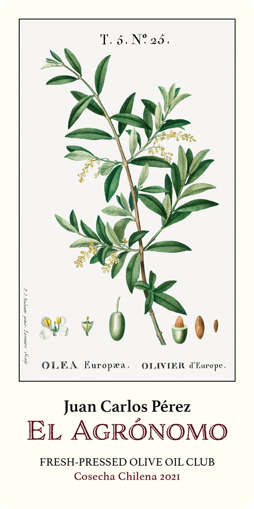 El Agrónomo Fresh-Pressed Olive Oil label
