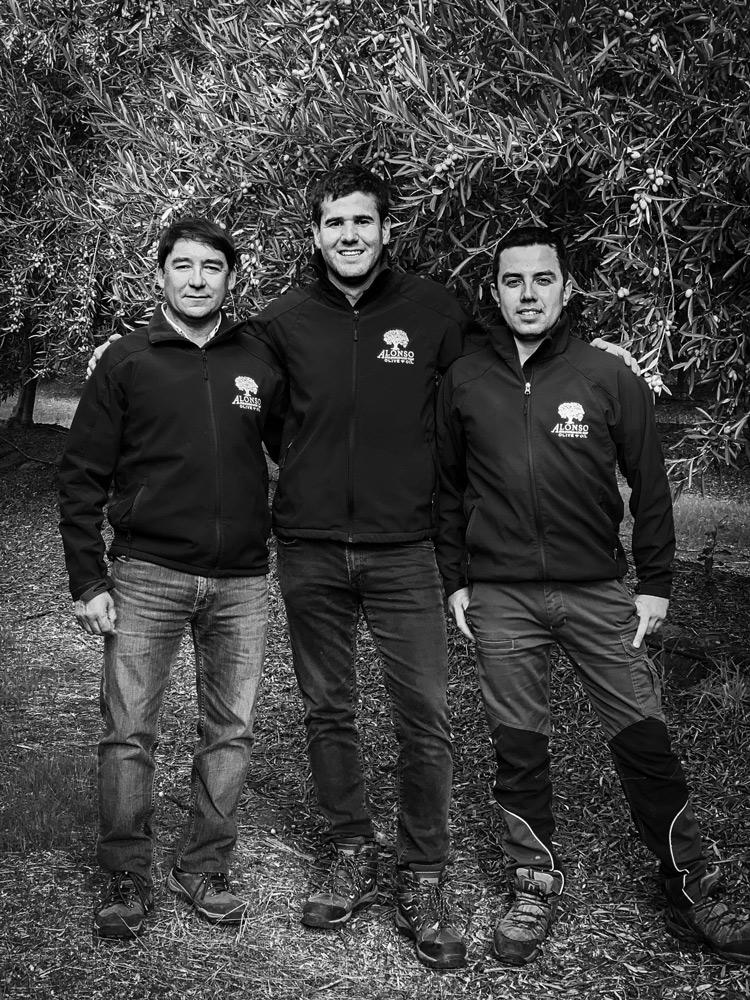 Juan Carlos Peréz, José Manuel Reyes and Juan Francisco González