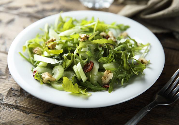 Celery and Greens Salad with Lemony Vinaigrette