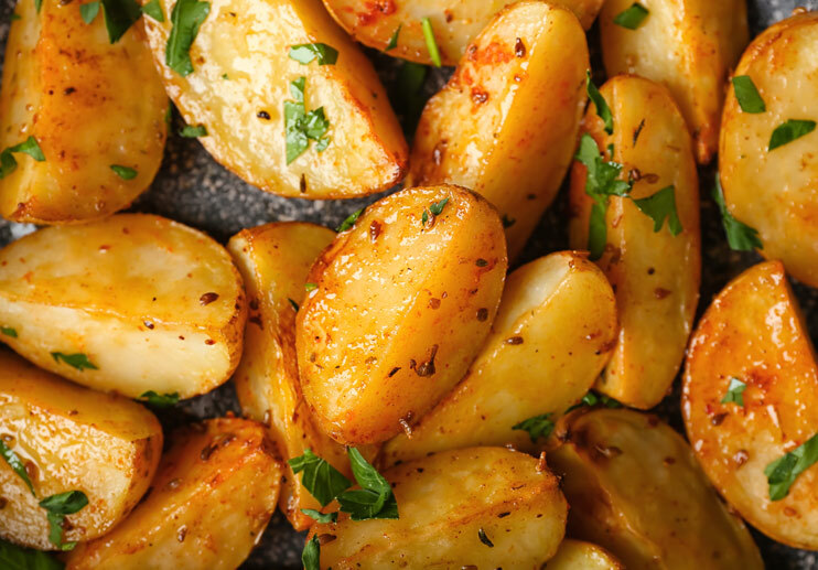 Wine-Braised Potatoes with Garlic and Chiles