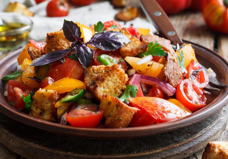 Harvest Time Panzanella Salad