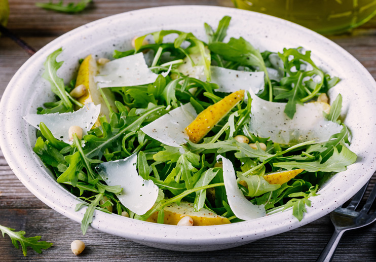 Pear And Arugula Salad With Lemon Vinaigrette