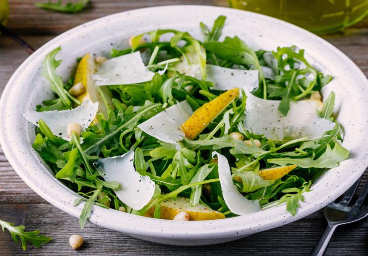 Pear And Arugula Salad With Lemon Vinaigrette