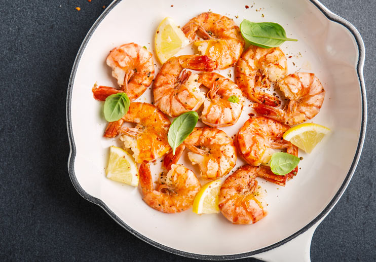 Grilled Shrimp with Deconstructed Pesto After-Marinade