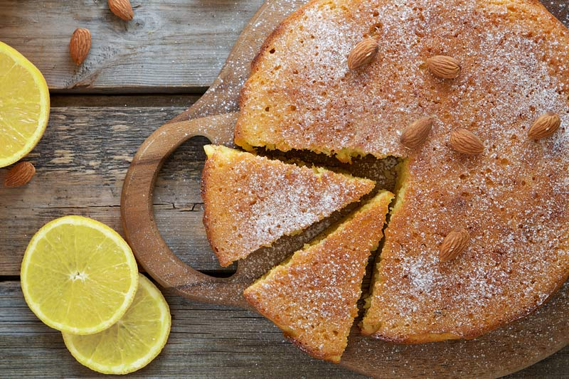 Olive Oil Cake with Lemon and Almonds