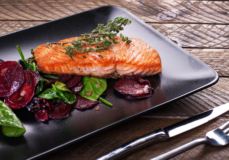 Curtis Stone's Pan-Roasted Salmon and Beets