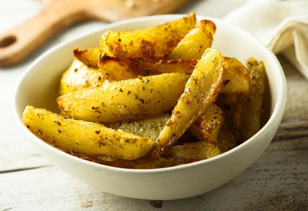 Lemony Greek-Style Potato Wedges