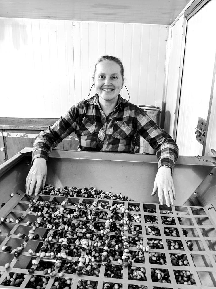Fiona Makowski in the Olive Pressing Room