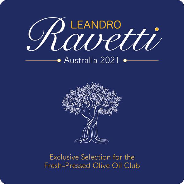 Leandro Ravetti Fresh Pressed Olive Oil Label