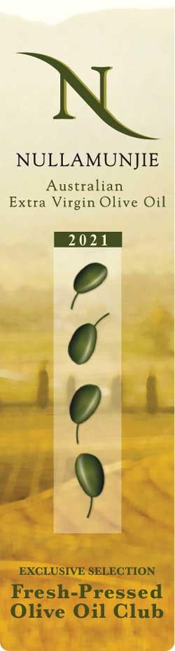 Nullamunjie 2021 Blend Fresh-Pressed Olive Oil label