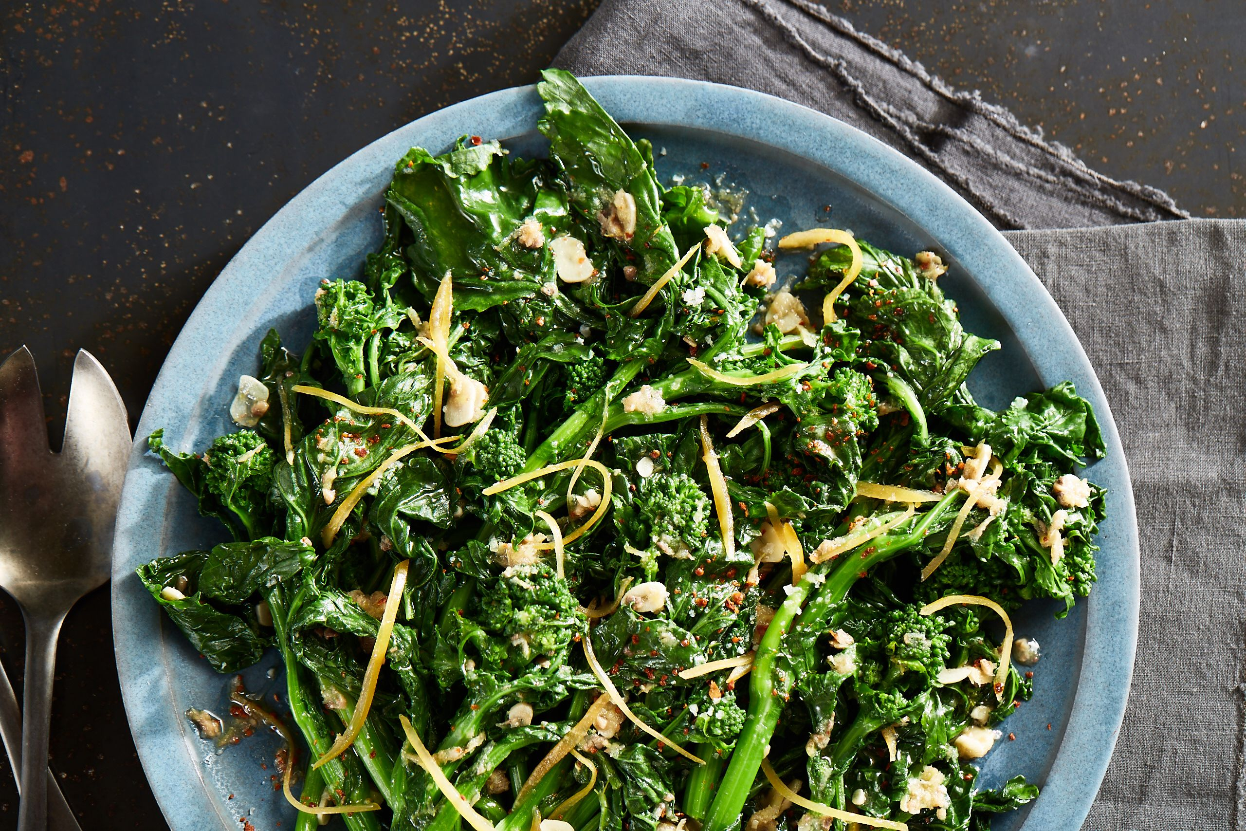 Overnight Broccoli Rabe With Anchovy And Preserved Lemon