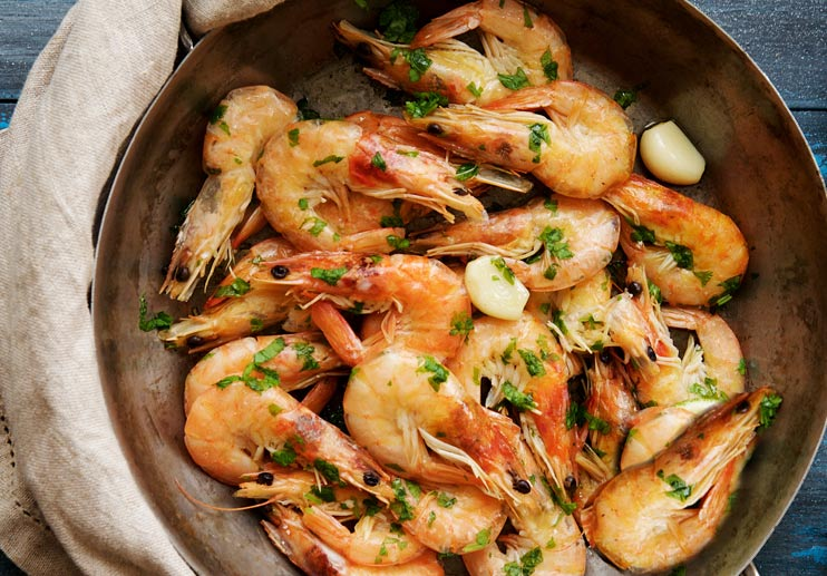 Shrimp with Pancetta and Rosemary (Gamberi al Rosmarino)