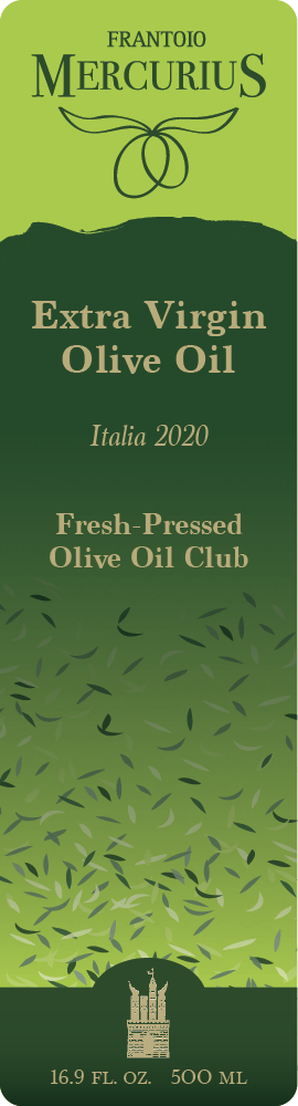 Frantoio Mercurius Olive Oil Label