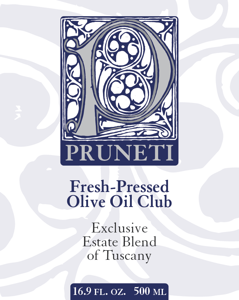 Frantoio Pruneti Fresh Pressed Olive Oil Label