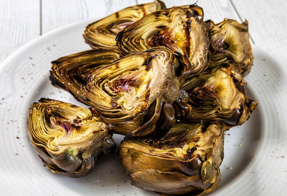 Sicilian-Style Grilled Artichokes