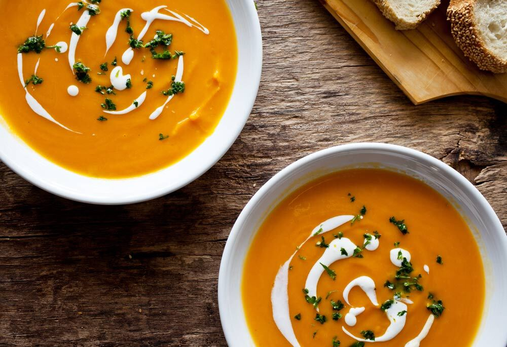 Sweet Potato Soup with Sage Pesto