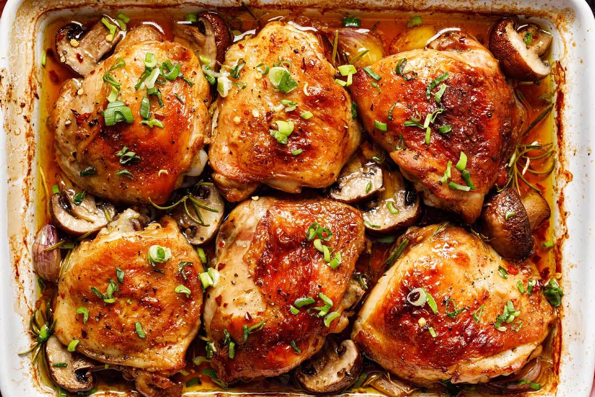 Sheet Pan Chicken and Mushrooms