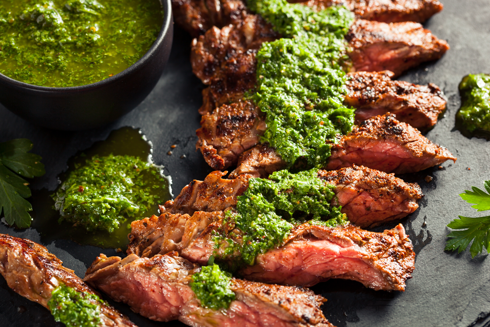 Argentinian Skirt Steak With Chimichurri