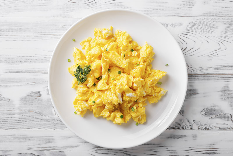 Delicately Soft and Fluffy Scrambled Eggs