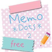 Sticky Memo Notepad *Dots* 2 Free icon