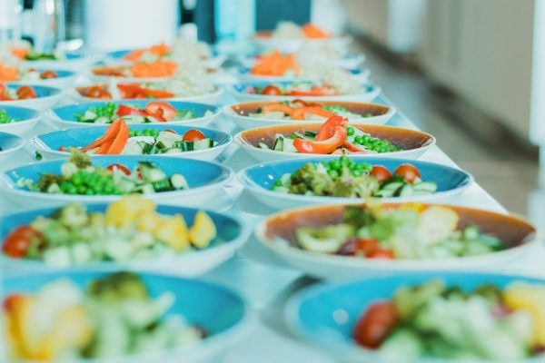 Salad portions ready for lunch