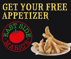 East Side Mario's Free Appetizer