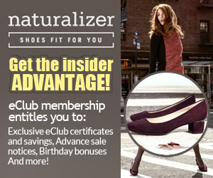 Join the Naturalizer Preferred Customer eclub
