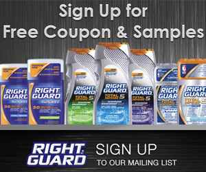 Right Guard Coupon and Samples