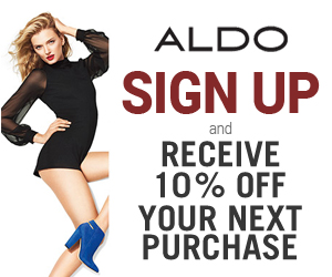 Sign Up and Receive 10% off at ALDO