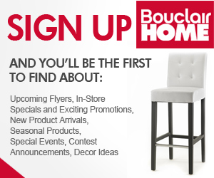 Sign Up Today with Bouclair Home