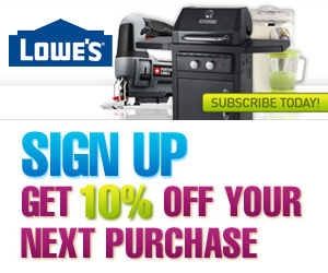 Get 10% off at Lowes
