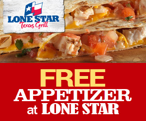 Free Appetizer at Lone Star
