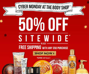 Save 50% off Site Wide at The Body Shop EXTENDED