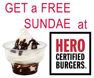 Get a Free Sundae at Hero Burger