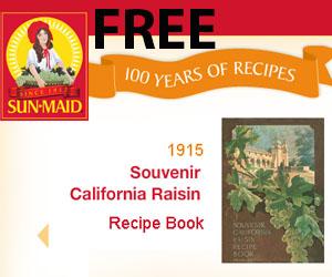 Free 100 Years of Sun-Maid Recipe Book