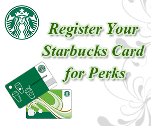 Register Your Starbucks Card for Perks