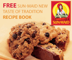 Free Sun-Maid New Taste of Tradition Recipe Book