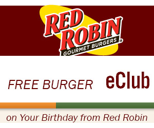 Free Burger on Your Birthday from Red Robin