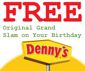 Free Original Grand Slam on Your Birthday