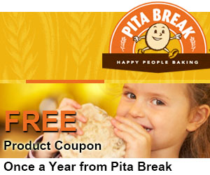 Free Product Coupon Once a Year from Pita Break