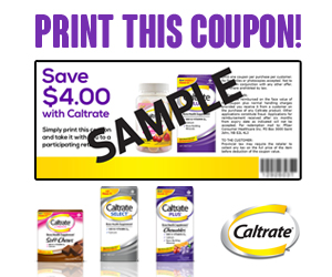 Save $4 on Caltrate