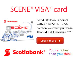 Earn Free Movies Faster with the Scene VISA Card
