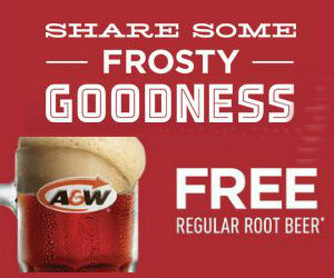 Free A&W Root Beer Coupon