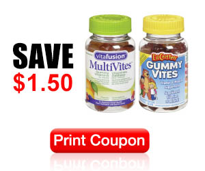 Save $1.50 off ANY Vitafusion or Little Critters Product