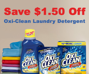 Save $1.50 Off OxiClean Laundry Detergent