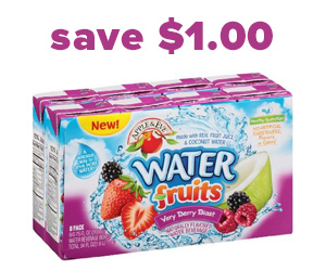 Save $1 on Water Fruits Juice Boxes