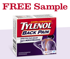 Free Sample of Tylenol Back Pain
