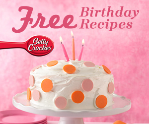 Free Betty Crocker Birthday Recipes