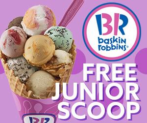 Free Junior Scoop at Baskin Robbins