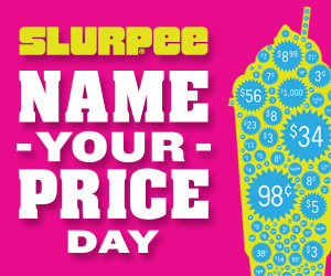 Sept 16 Only- Slurpee Name Your Price Day